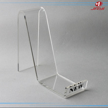 Shoe store display racks with NEW or logo printed; acrylic shoe display stand rack with price tag holder