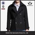 recién 2015 capa baratos para el hombre negro de tela de lana