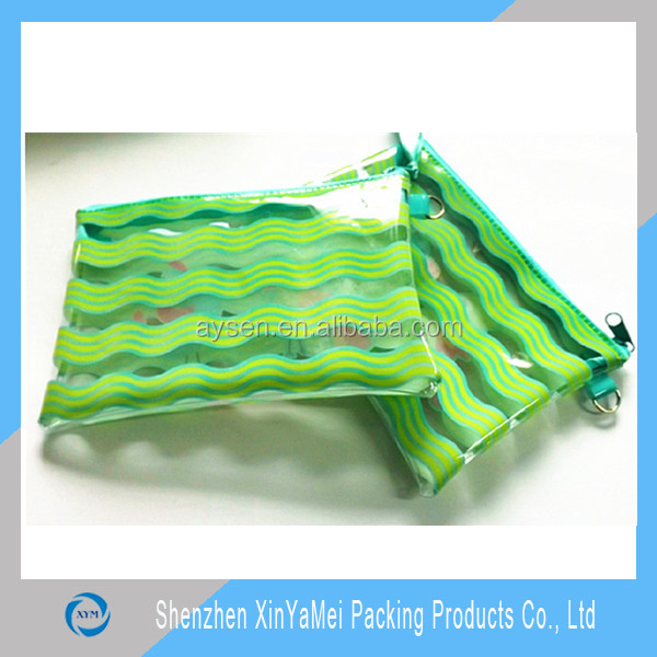 PVC Plastic Bags Use pvc transparent zipper