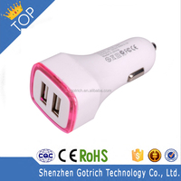Mobile Phone Accessorie 5V 3A Dual Port Usb Universal Car Charger For Apple and Android Devices