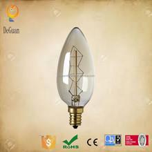 C35 E14 240V clear candle decorative ceiling light bulbs incandescent bulbs