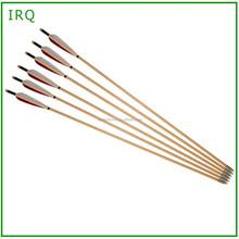 "Archery Turkey Feather Wood Arrow 31"" hunting wood arrow for recurve bow"