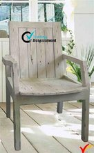 White Countryside Distressd Antique Wooden Vintage Rocking Chairs