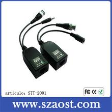 Video balun BNC to rj45 with power balun video model STT-2001A