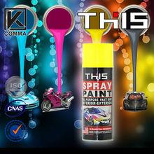 wholesale removable car acrylic aerosol spray paint