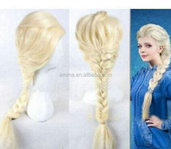 New arrival frozen elsa wig for adult snow queen elsa wig with high quality for halloween party decoration W2017
