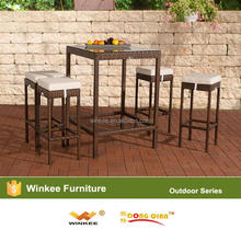 Professional commercial bar furniture poly rattan bar
