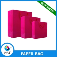 Custom Cheap Luxury Rose Pink Color Fancy Design Gift Paper Shopping Bag