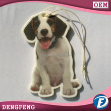 Lovely dog design car paper air freshener also can produce with your design