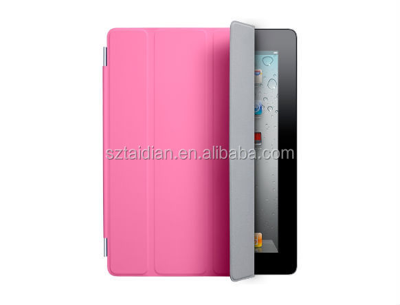 2014 Triple Magnetic Smart Cover PU Leather case Protection Skin Sleeve Solid Color Soft Sleep Wakeup holster For iPad 2 3 4 5