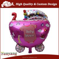 Big custom shape mylar balloon stroller / baby carriage