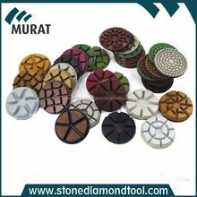 "4"" round diamond abrasive concrete floor polishing block"