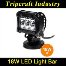 18w led light bar for cars led truck lights moto led work light