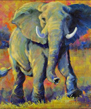 2015 hot item low price handmade abstract elephant oil painting