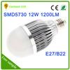 Cool white 12w e27 12 volt led bulb 6000k high light efficience 1200lm 10w led bulb