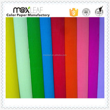 80gsm A4 size colorful corrugated paper of 10 assorted colos