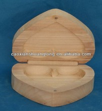 new designed wooden crafts small heart shape wood box with lids for gifts packing