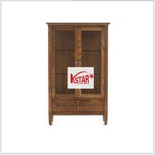Three Sides Antique Decorative Oak Korean Style Furniture Cabinet