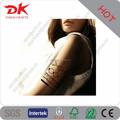 Custom temporários de ouro fake tatuagens/braço banda tatuagem de etiqueta impermeável