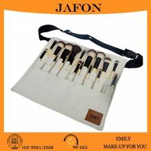 2015 professional nylon fibres bamboo make up brush set with belt bag