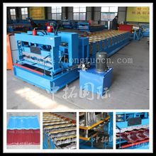 metal steel tile glazed type forming machine, metal step tile forming machine