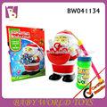 Plástica dos desenhos animados santa soprando brinquedos da bolha, bolha de sabão brinquedo, brinquedo de natal