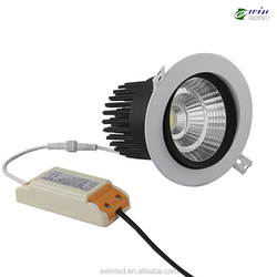 8W Anti-glare LED Spotlight and Downing Light AC230V/AC/DC12V Dimmable Bridgelux COB LED House Down Light