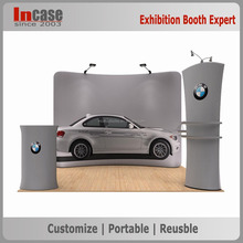 Easy installation customized tension fabric backdrop advertising display