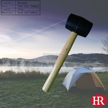 wooden handle copper hammer for casting tent pegs