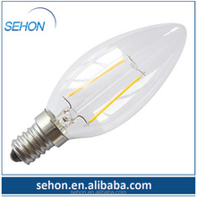 LED chandelier lighting 2700k led candle filament bulbs 2W 3w 4w vintage led bulb filament dimmable E14