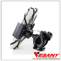 Vesany high quality made in china universal 360 dual clip cell phone holder for bike for samsuang galaxy s4 s5 s6