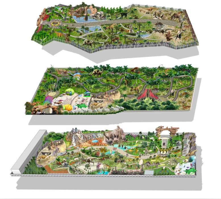 Открытая Площадка Украшения Аниматронных Динозавров
