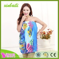 wholesale reactive printing towel microfiber beach towel with soft and comfortable