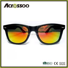 Hot selling cheap sunglasses, plastic wayfarer sunglasses with mirror reflective lens