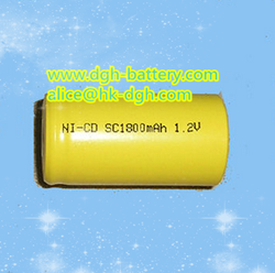 Rechargeable battery 1.2V Ni-Cd /Ni-Cd battery 1.2V 1800mAh for light,electronic devices