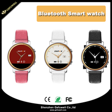 Ultra-thin Dial Real Leather Multi-languages IOS Android Smart Watch Phone