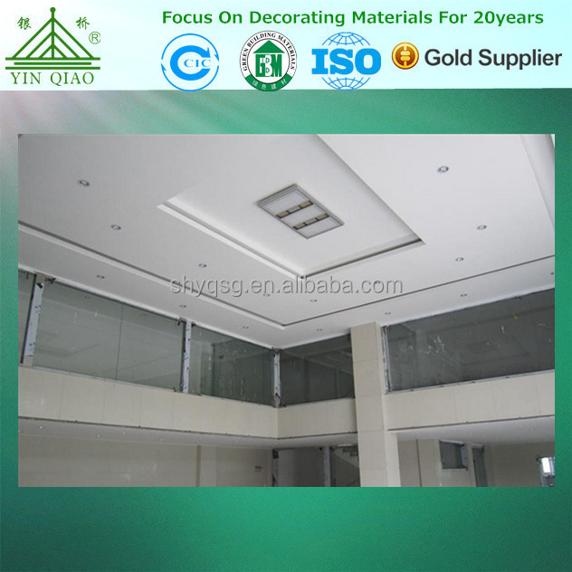 Quality gypsum ceiling design fireproof plaster board for Plaster ceiling design price