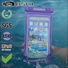 Eco-friendly pvc waterproof cell phone bag for iphone 5