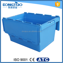 Low price plastic fish container with lock, high quality plastic container with handle