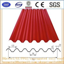 Waterproof Painted Corrugated Steel Roofing Sheets Panel / Color Coated Metal Roof tile