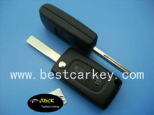 Hot sale two button remote flip remote keyfor citroen c4 remote key with ID46 chip 433Mhz