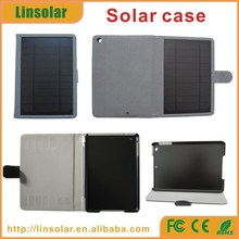 2015 new products 6000mAh pu leather solar power bank case for ipad mini