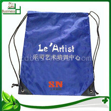 trendy factory wholesale polyester drawstring backpack with printing