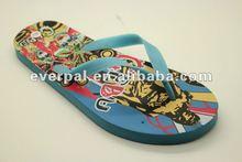 Latest fashion beach flip flops sexy girls designed rubber slippers sandals summer 2013