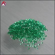 Hot sale synthetic stones nano emerald small size round shape brilliant cut