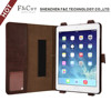 Book style pu leather case with hand strap for ipad air 2 / for ipad 6
