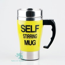 hot sale promotional double wall cup stainless steel/ plastic 400 ml office cup