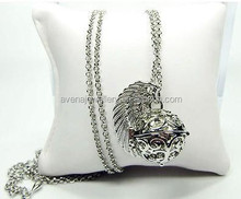 Angel Wing Mexican Bola Pendant Necklace Angel Callers Sound Chime Necklace Ball for Thanksgiving &Christmas gift CDM210