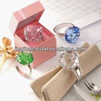 Elegant Luxurious Crystal Napkin Rings for Weeding