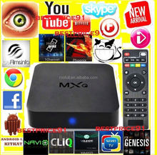 Android 4.4 XBMC 14.0 Smart tv box MXQ Quad Core Tv Box Android 4.4 MXQ 8G Rom Google Tv Box EU UK US Plug All Stock MXQ
